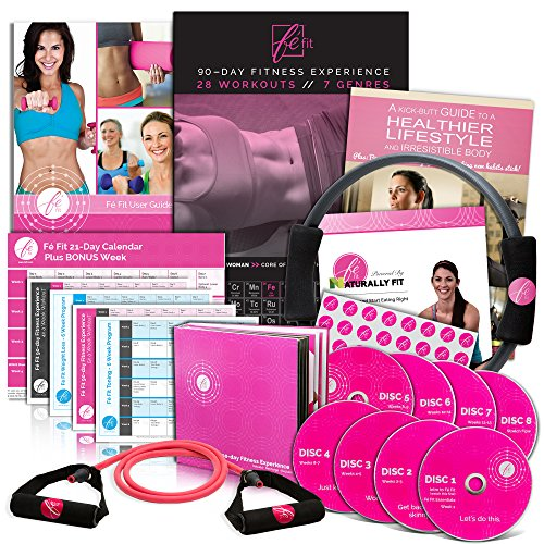 Price comparison product image Fé Fit Women's Workout Program - All Skill Levels - 28 Workout Videos for Women - Includes New 21 Day Exercise Program