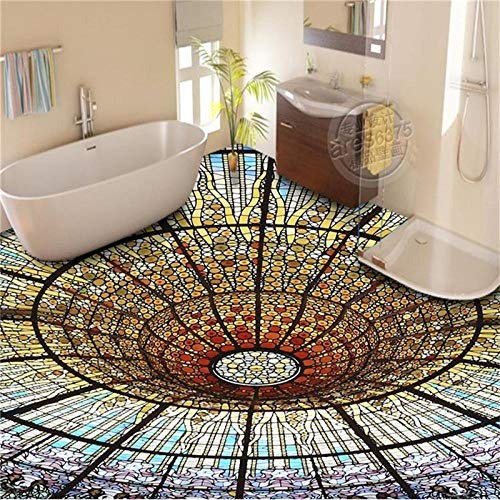 Op maat gemaakte foto behang/muurschildering PVC vloerbehang/3D behang/kleur vloerstickers/badkamer/toilet/Ktv/hotel/keuken 400 cm.