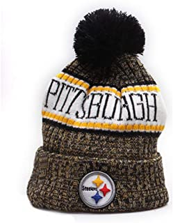 dbdfcd0886a95 Gloral HIF Pittsburgh Steelers Sport Beanie Hat Sport Toque Cap for Gift