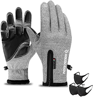 Winter Warm Gloves Touch Screen Driving Gloves Water Resistant Windproof Cold Weather Sports Gloves for Running Cycling Ou...