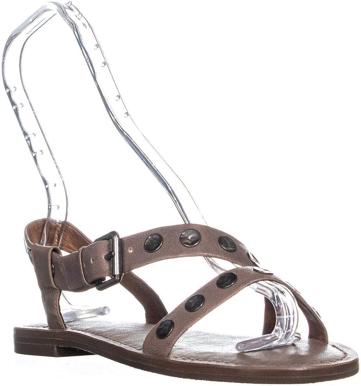 Frye Morgan Morgan Morgan Hammröd Stud Flat Sandals, svart  Alla produkter får upp till 34% rabatt