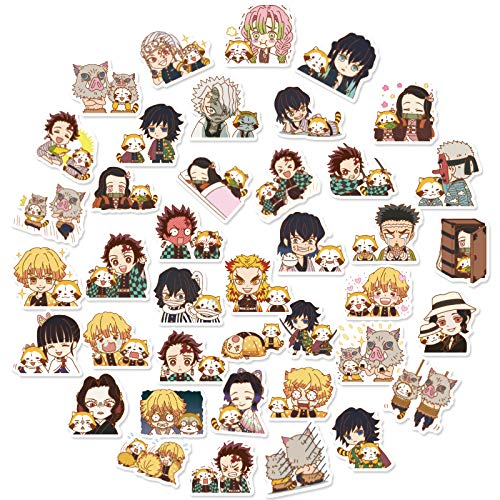 WWLL 40 stickers anime mini hand account decoration computer helmet phone case stickers waterproof