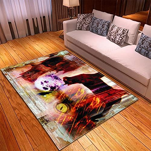 Alfombra Salon -130x190cm Púrpura Azul Amarillo, Alfombra Modernas Grandes Pelo Corto, Alfombras Cocina Antideslizante Lavables, alfombras baño, Alfombra Infantiles habitacion, Dormitorio alfombras