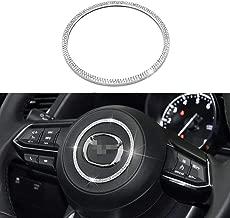Senauto Bling Steering Wheel Cover Trim Ring Sticker for Mazda 2 3 6 CX-3 CX-4 CX-5 CX-9 MX-5