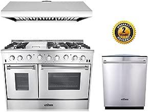 Thor Kitchen 3-Piece Kitchen Package with HRG4808U 48