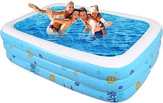 ASL Familia de gran tamano Piscina inflada Hogar grande piscina de arena plegable para ninos Piscina al aire libre juego mas grueso Piscina para adultos Banos de piscina Bano de cilindro Bano ollas Nuevo ( Tamano : 220CM )