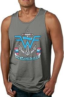 GOOOET Men's Weezer Cruise Logo Tank Top Gym T Shirts