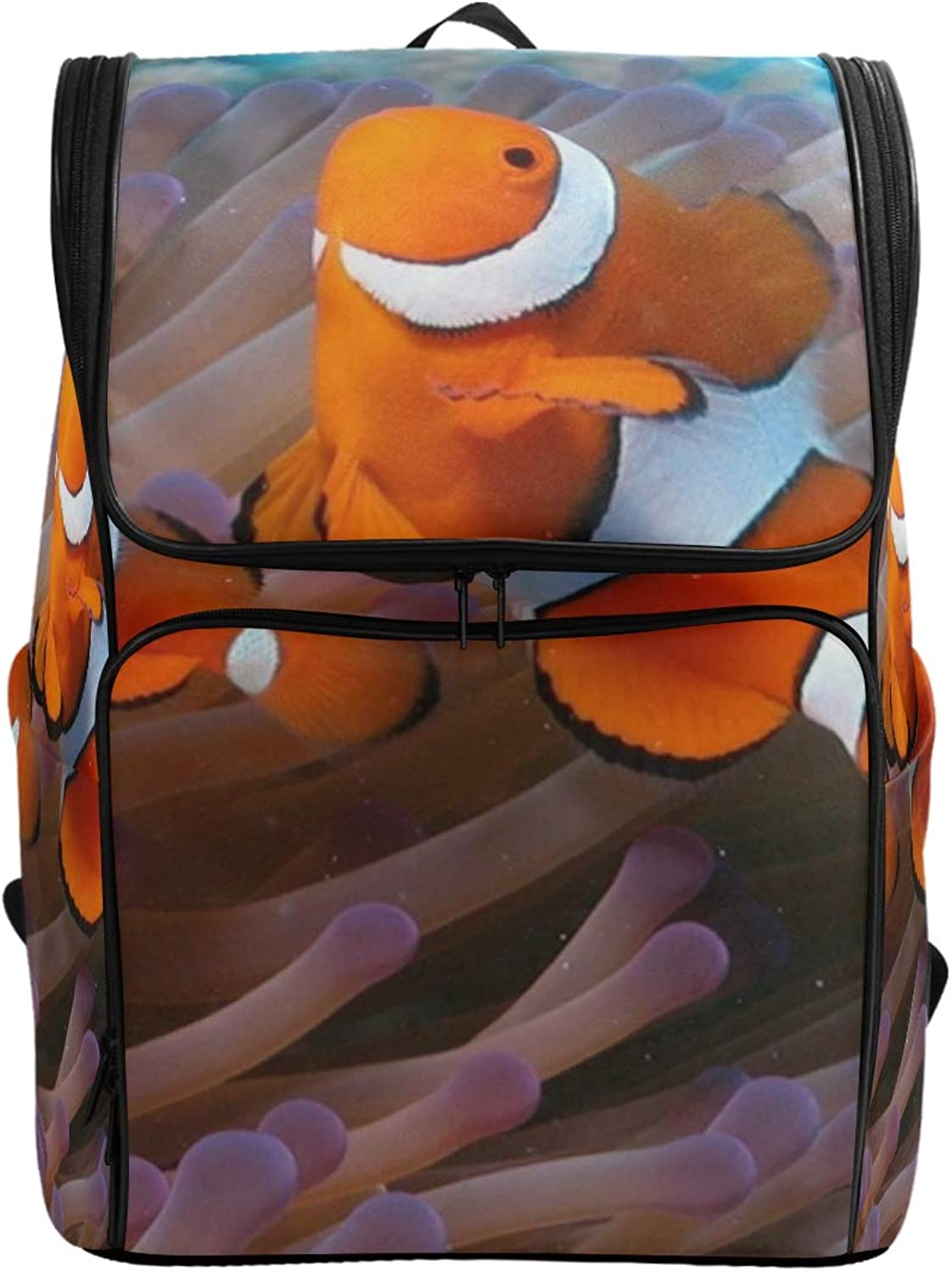 MONTOJ Anemone Fish Outdoor Hiking Backpack Hiking & Travelling Backpack with Laptop Compartment & Camping Backpack