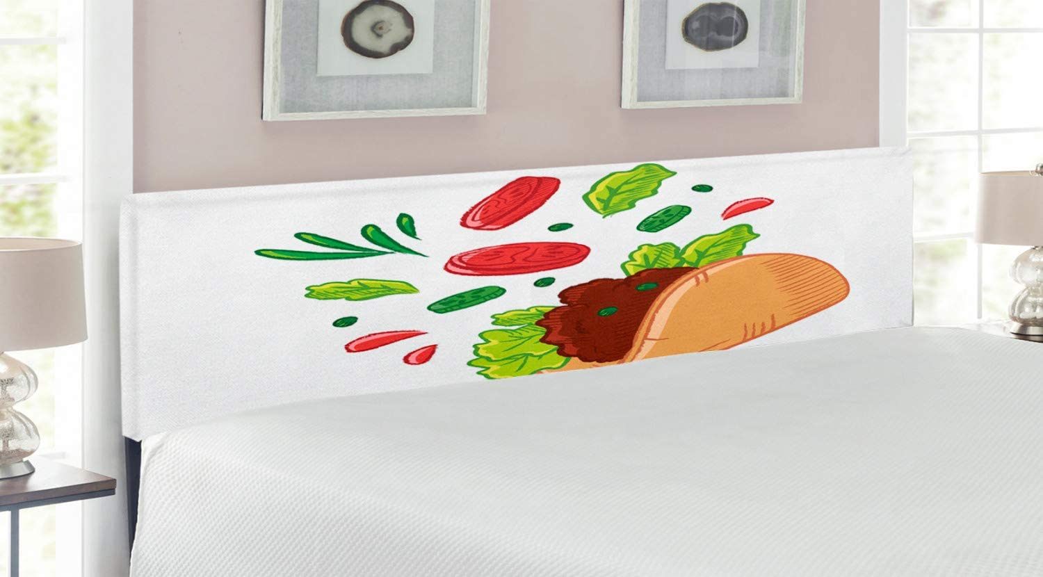 low-pricing Ambesonne Manufacturer direct delivery Taco Headboard Vegan Snacks Wheat Tortil Mexican with