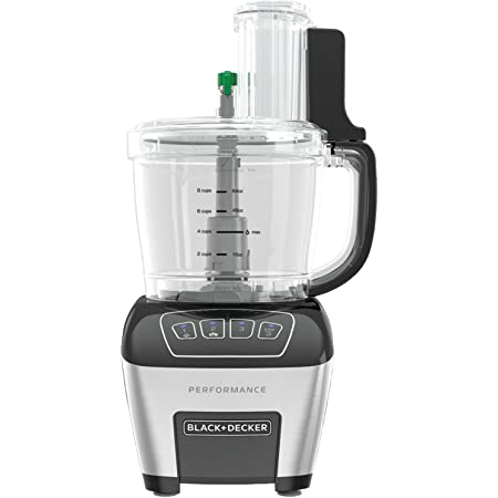 BLACK+DECKER FP6010 Performance Dicing Food Processor with Digital Control, Stainless Steel