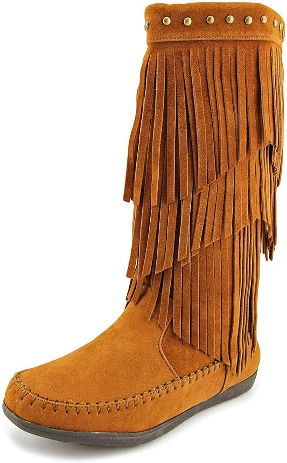 Rampage  Cambra Tall Fringe Boots