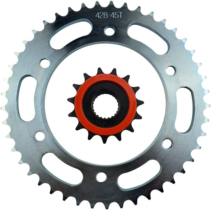 HJXV Motorcycle OFFicial Superior Parts Front Rear Sprockets for- Kit Y Fit Yamaha