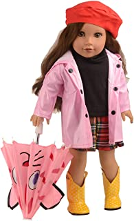 sweet dolly 5pcs Rainy Day Outfits Doll Clothes for 18