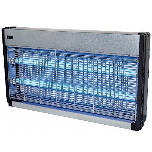 Powerpreise24 Lichtfalle 4000 Volt 2 x 20 Watt extra stark für 200 m² elektrischer Insektenvernichter Insektenfalle mit UV-Licht zuverlässige Insektenabwehr Mückenfalle