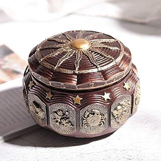 LIZONGFQ Caja De Música Vintage con 12 Constelaciones Diosa Giratoria Luces LED Mecanismo De Centelleo Regalos