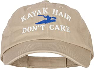 Kayak Hair Don't Care Embroidered Low Profile Cotton Cap