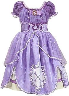 プリンセスなりきり お姫様 ワンピース ディズニーお姫様ドレス 女の子 なりきり キッズドレス 子供 キッズ 子ども ドレス ちいさなプリンセス ソフィア