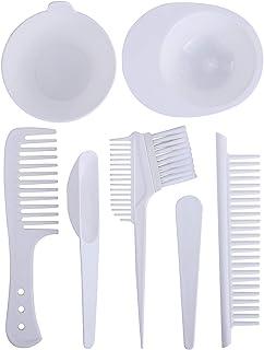 7PCS/Set Hair Dye Tool Kit Hair Dye Color Comb and Bowl Set Color Mixing Bowl Hair Dye Comb & Brush Dye Mixer Hair Tint Dy...