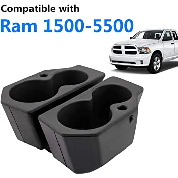 JoyTutus Car Door Cup Holder Compatible with 2009-2019 Ram 1500-5500, Left + Right Foam Car Cup Holder Compatible with Ram, Replacement for 5NN24XXXAA/1LD23XXXAA, 2PCS