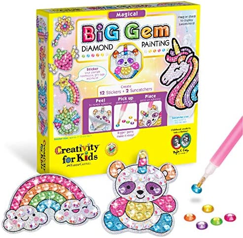 Creativity for Kids Big Gem Diamond Painting Kit Create Your Own Magical Stickers and Suncatchers product image