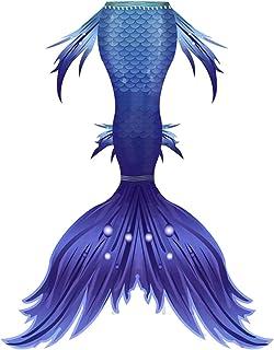 Cola de sirena Colas de la sirena de las muchachas del traje de baño for la natación Colas de la sirena princesa del bikin...