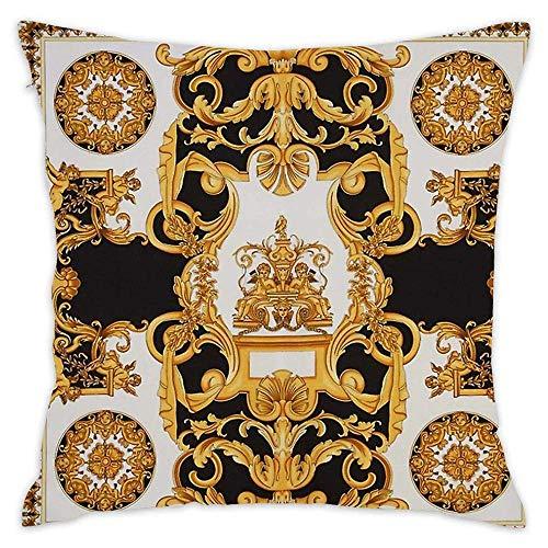 Jhonangel Fodera per Cuscino da tiro Modello Barocco Fodera per Cuscino Morbido Fodere per Cuscino da 18 x 18 Pollici / 45 x 45 cm Decorativo per Divano Letto