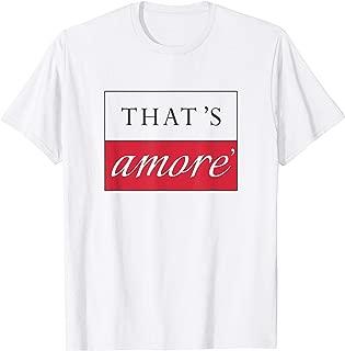 THAT'S AMORE Designer Graphic T-Shirt - Italian