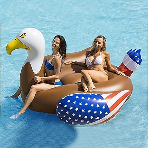 ganancia cero Trend jewelryPool Inflatable,Giant Inflatable Pool Float, Fun Beach Floaties Floaties Floaties Swim Party Toys Pool Island Lounge for Adults & Kids,200×180×120cm  mejor calidad