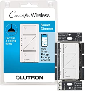 Lutron Caseta Smart Home Dimmer Switch, Works with Alexa, Apple HomeKit, and the Google Assistant | for LED Light Bulbs, I...