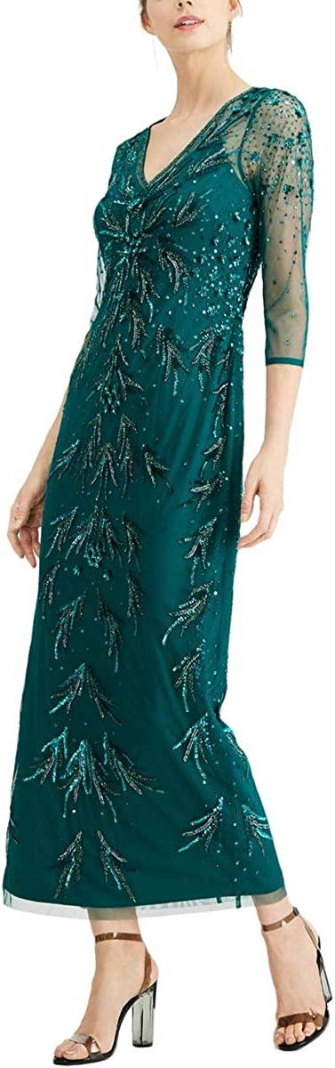Adrianna Papell Max Popular products 51% OFF Women's Dress Beaded Mesh