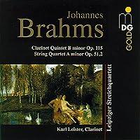 Clarinet Quintet Op 115 / String Quartet Op 51 2 by KARL / LEIPZIG STRING QUARTET LEISTER (1997-01-21)