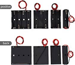 AAA Battery Holder Bundle Case Back Cover Connector Storage Box with Cord Wire Bare Leads 1.5V AAA Battery Holder 2pcs Single, 2pcs 2 Slots 3V,2pcs 3 Slots 4.5V,2pcs 4 Slots 6V Spring Clip,(8-Pack).