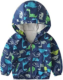 Banibear Toddler & Baby Boys' Hooded Dinosaur Windbreaker Jacket Outerwear