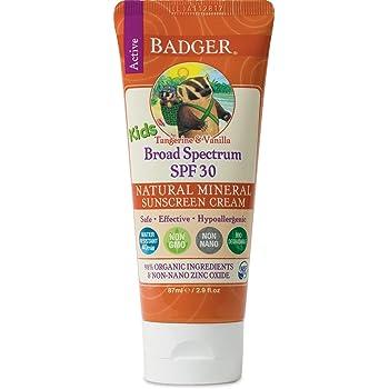 Badger Balm SPF 30, protector solar en crema para niños, 2,9 oz.: Amazon.es: Salud y cuidado personal