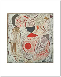 Printed Sheet with Picture by Paul Klee, 1937. Art Print