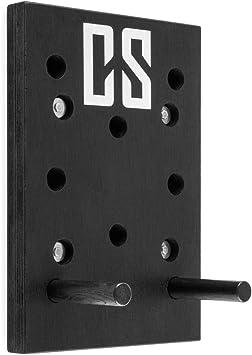 CAPITAL SPORTS Pegstar Pegboard Tablero de clavijas de entrenamiento (tabla para escaladores de 43 x 30 x 3.8 cm, entrenar alpinismo en casa) - negro