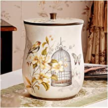 Recycling Bin Resin Trash Can Retro Garbage Container Bin Creativity Wastebasket Trash Bin for Living Room Bedroom Kitchen...