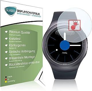 Slabo 2 x Pansarfolie kompatibel med Samsung Gear S2 Sport Skärmskydd Skyddsfilm Folie Shockproof KLAR