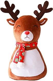 Xiaoa Merry Christmas Santa Snowman Elk Plush Doll Christmas Gift Pillow Toy