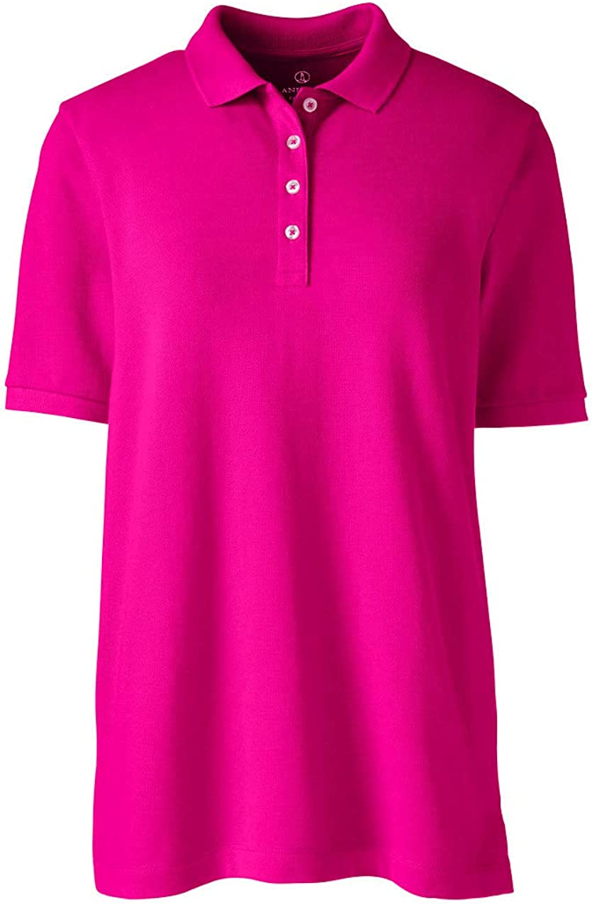 Lands' End Women's Banded Short Sleeve Mesh Polo