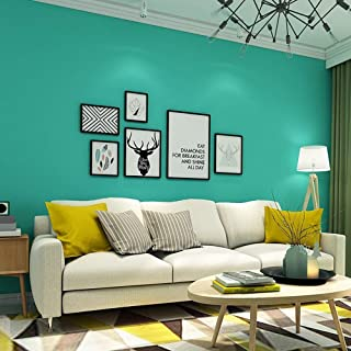 Blooming Wall:Removable Super Thick Peel-and-Stick Paint Non-Woven Textured Wallpaper Self Adhesive Wallpaper Wall Decor Contact Paper (Tiffany Blue)