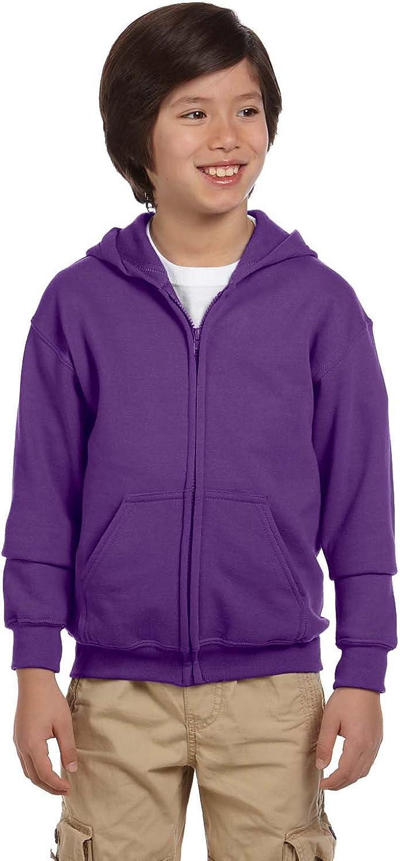 Gildan Big Boy's Heavy Blend Hooded Sweatshirt, Purple, X-Large