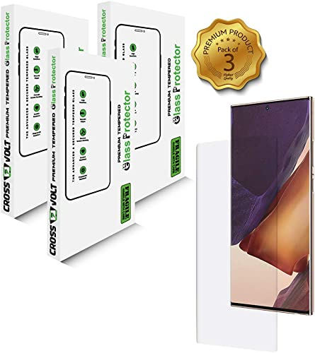 CROSSVOLT UV Tempered Glass Screen Guard For Samsung Galaxy Note 20 Ultra Transparent Advanced Border Less Edge To Edge Full Screen Coverage With Easy Installation Kit Pack Of 3