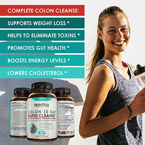 Colon Cleanser Detox for Weight Loss. 15 Day Fast-Acting Extra-Strength Cleanse with Probiotic & Natural Laxatives for Constipation Relief & Bloating Support. 30 Detox Pills to Detoxify & Boost Energy 8