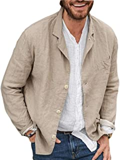 huateng Spring and Autumn Casual Cotton and Linen Loose Suit Jacket Men's Casual Blazer
