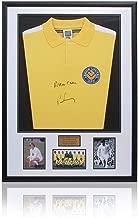 Peter Lorimer & Alan Clarke Hand Signed Leeds United Shirt AFTAL Photo Proof COA
