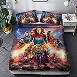 DCWE Bettbezug, Kinder, Marvel Avengers, Bettwäsche, Bettbezug, 100 % Mikrofaser, 3D-Digitaldruck,...