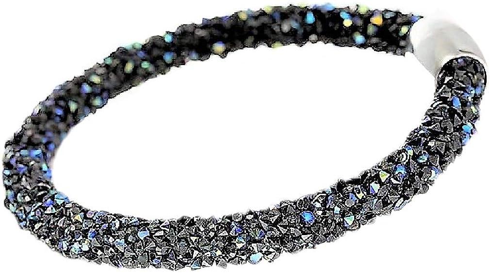 Mesh Crystal Cuff Bracelet for Women