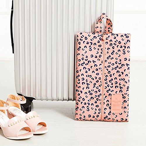 MZP chaussure chaussures imperméables sacs de poche du sac à poussière de la poche Voyage valise chaussures de sac couvre chaussure boîte à chaussures , pink leopard
