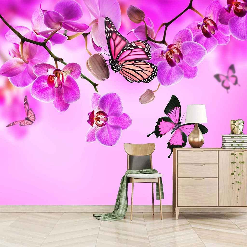 FVGKYS Wall Decals Art quality assurance Mesa Mall 3D Custom Poster Butterfly Purple F Mural